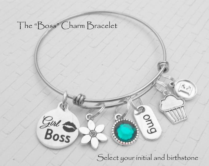 Gift for Teenage Girl, Gift for Daughter, Teenager Birthday Gift, Gift for Her, Birthstone Gift, Charm Bracelet, Gift for Women, Girls Gift