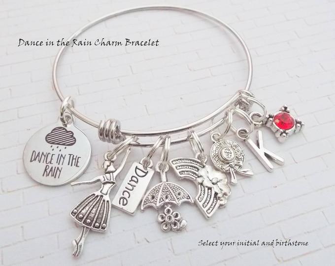 Dance Charm Bracelet, Gift for Ballet Dancer, Birthday Girl Gift, Ballet Charm Bracelet, Custom Bracelet for Girl Dancer, Personalized Gift