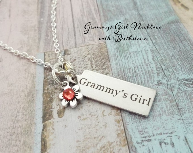 Granddaughter Gift, Personalized Christmas Gift for Her, Custom Jewelry, Granddaughter Christmas, Birthstone Necklace, Grammy's Girl
