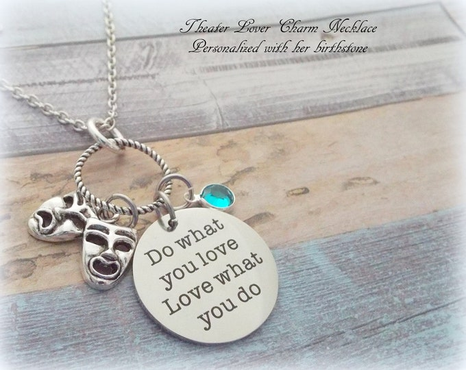 Acting Necklace, Personalized Gift, Theater Lover Gift, Custom Jewelry, Actor Necklace, Gift for Her, Acting Student, Acting Teacher Gift