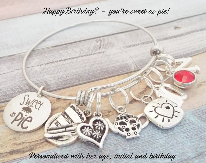 10th Birthday Gift Charm Bracelet, 10th Birthday Girl, Daughter 10th Birthday, Personalized Gift, Gift for Her, Birthday for Girl