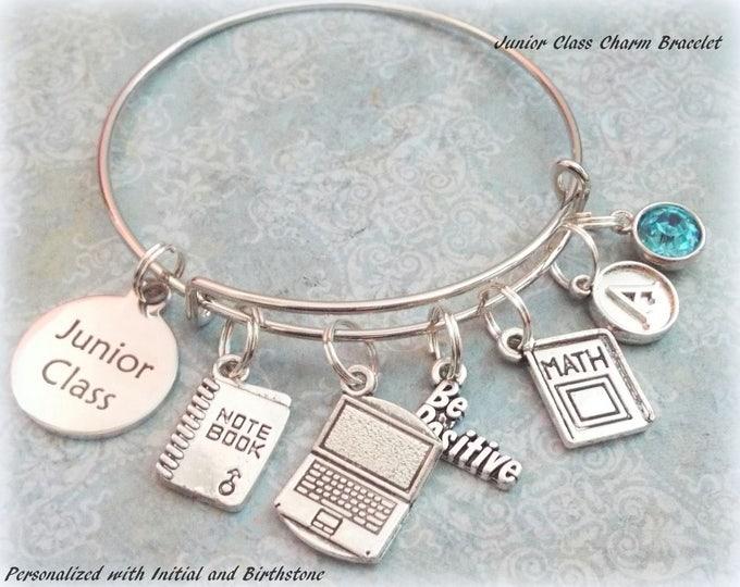 High School Girl Gift, Graduation Gift for Girl, Junior Class Charm Bracelet, Gift for High School Girl, Gift for Student, Girl's Graduation