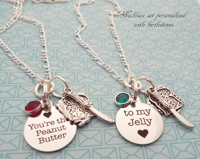 Best Friend Gift, Daughter Gift, Silver Necklace, Custom Necklace Gift Set, Gift for Her, Gift for BFF, Granddaughter Necklace Set