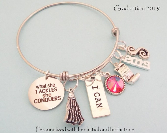Graduation Gift for Girl, Personalized Jewelry Gift for Daughter Graduating from High School or College