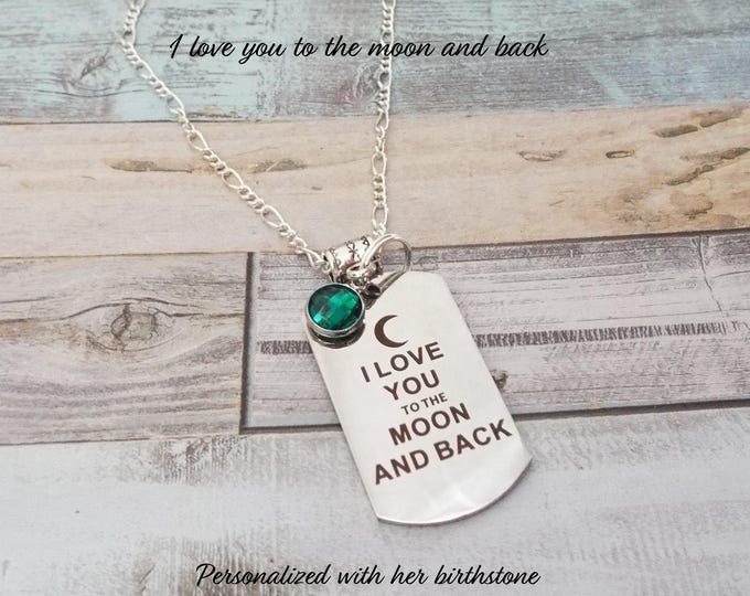 Gift for Daughter, Gift for Teenage Girl, Daughter Gift, Necklace Gift, Birthstone Necklace, Birthstone Jewelry, Teenager Jewelry Gift