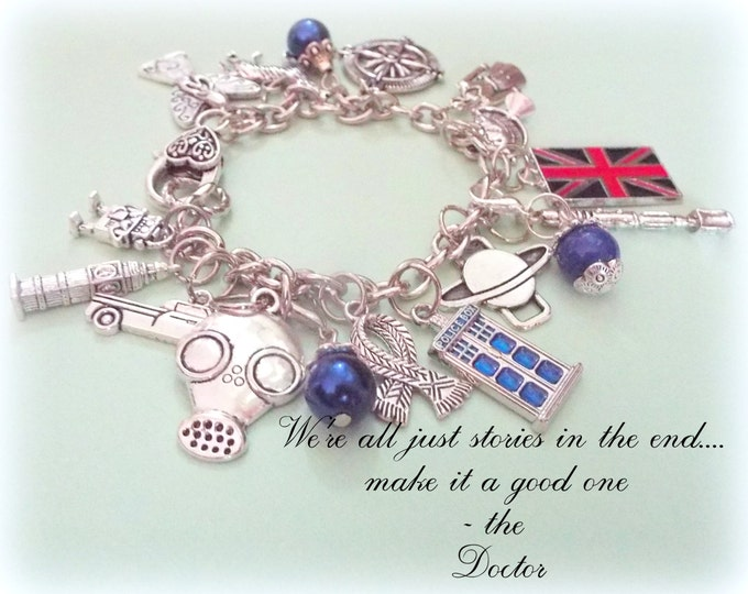 Dr. Who Bracelet, Gift for Dr Who Fans, Dr Who Charm Bracelets, Dr Who Gifts for Her, Personalized Dr Who Jewelry, Personalized Gift