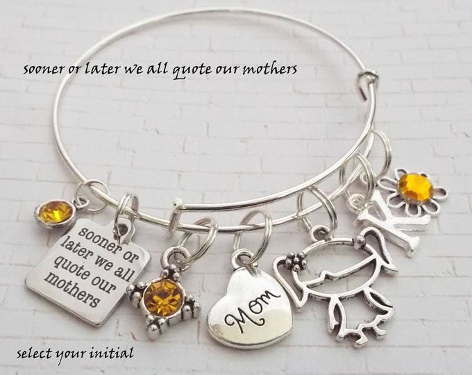 Gift for Mom, Mother Charm Bracelet, Gift for Mother, Personalized Gift for Mom, Jewelry for Mother, Birthday Gift for Mother, Mom Gift