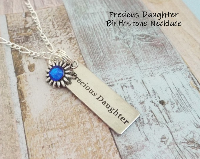 Mother Daughter Gift, Daughter from Dad, Dad to Daughter, Daughter Birthday Gift, Daughter Birthstone, Personalized Gift, Birthstone Jewelry