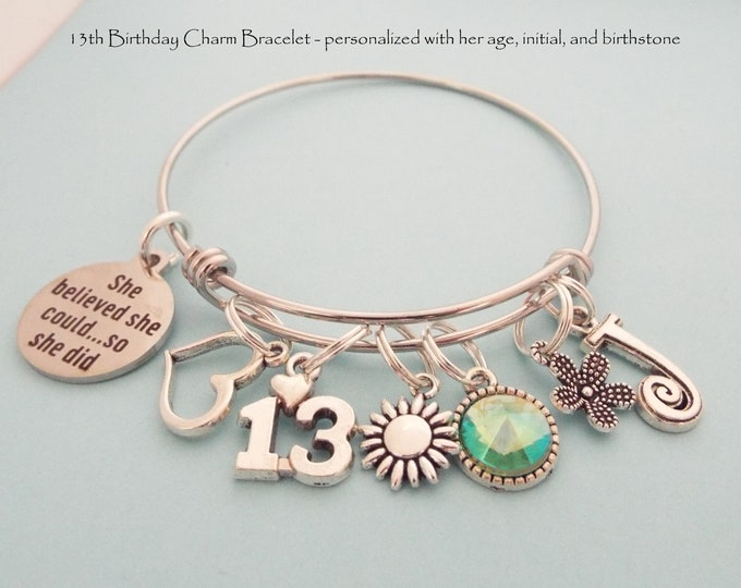 13th Birthday Girl, Birthday Gift for 13 Year Old Girl, Daughter Turning 13, Daughter Birthday Gift, Custom Birthday Jewelry Gift Girl