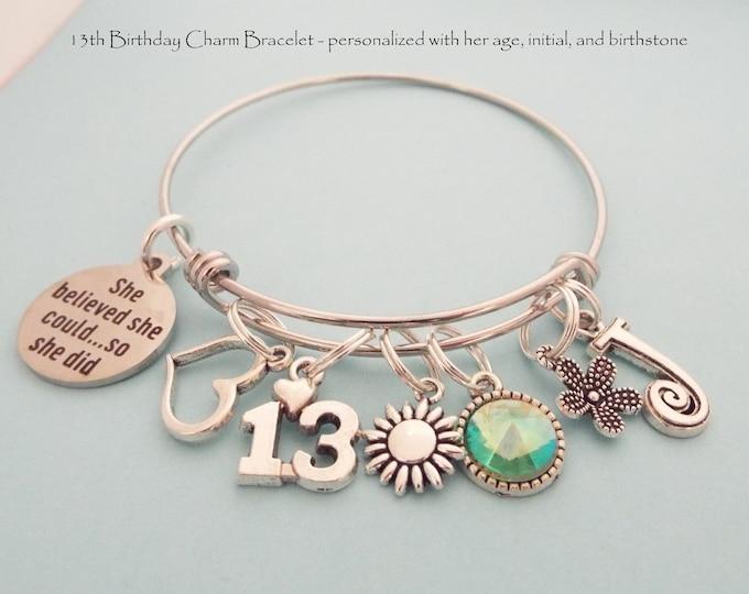 13th Birthday Girl, Birthday Gift for 13 Year Old Girl, Daughter Turning 13, Daughter Birthday Gift, Custom Birthday Jewelry Gift Girl