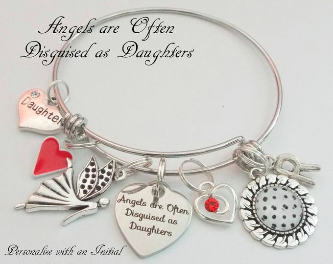 Birthday Gift for Daughter, Gift Ideas for Daughter, Happy Birthday Daughter Charm Bracelet, Personalized Jewelry Gift for Daughter