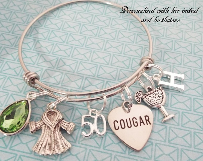 50th Birthday Charm Bracelet, Gift for 50th Birthday, Gift for Her, Personalized Gift, Women's Birthday, Birthday for Her, Jewelry Gift