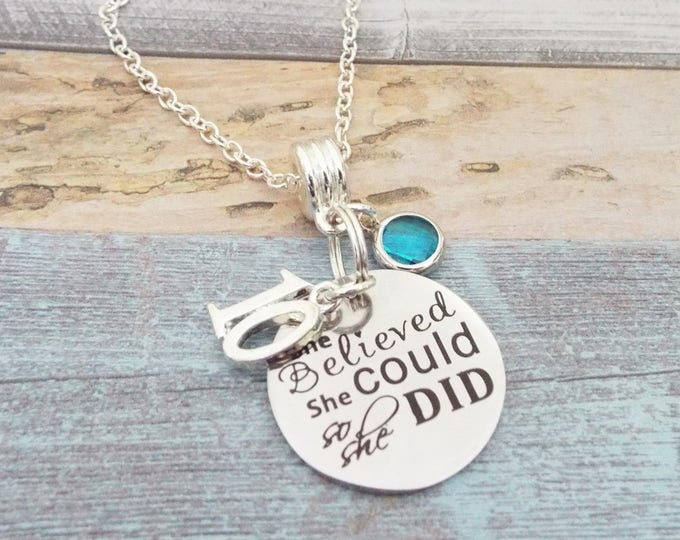 10th Birthday Gift, Birthday Gift for 10 Year Old Girl, 10th Birthday Necklace, Personalized Gift, Custom Jewelry, Gift for 10th Birthday