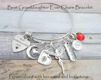 Granddaughter Gift For Christmas Birthday Best Ever Bracelet