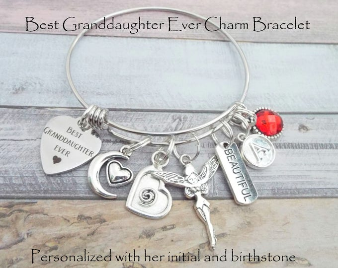 Granddaughter Gift, Gift for Her, Grandmother Gift Girl Granddaughter, Birthday for Young Girl, Teenage Girl, Girl's Jewelry, Personalized
