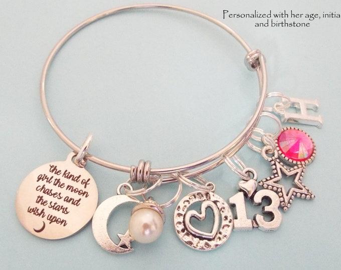 13 Year Old Girl Birthday Gift, Daughter 13th Birthday, Birthstone Jewelry for Girl Turning 13, Teenage Girl Gift, Teenager Jewelry, Niece