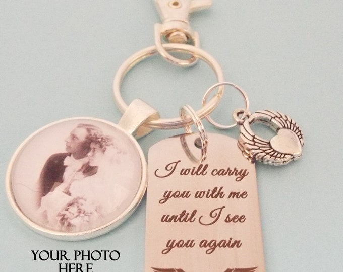 Memorial Keychain, Custom Photo In Memory Gift, In Memory of Loss of Loved One, In Sympathy Gift, Condolence Gift for Remembrance