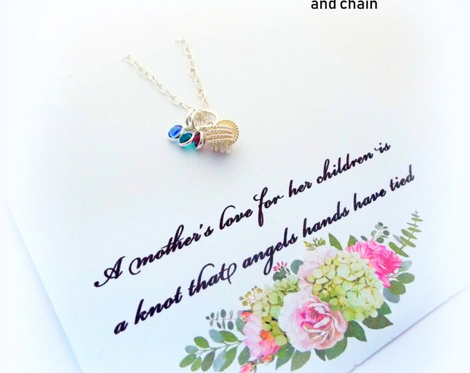 Gift for Mom, Gift for Mother, Mother Jewelry, Birthstone Necklace, Sterling Silver Family Necklace, Personalized Gift, Gift for Her, Mom