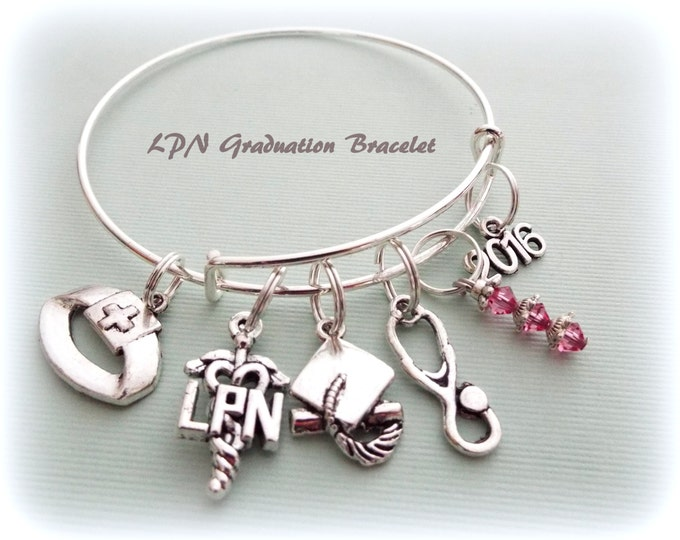 LPN Graduation Gift, Nurse Graduation Gift, Gift Ideas for Nurses, Personalized Jewelry, Personalized Gift, Gifts for Her
