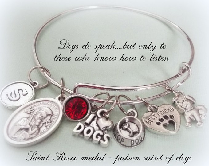 Dog Lover Gift, Personalized Jewelry for Dog Lovers, Dog Lover Charm Bracelet, Custom Jewelry for Animal Lovers, Animal Lover Gift for Girls