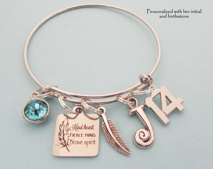 Girl's 14th Birthday, Gift for Girl Turning 14 Years Old, Personalized Gifts, Teenager Birthstone Charm Bracelet, Teenage Girl Birthday