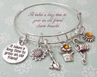 Charm Bracelets Glorious Friendship Bracelet Good Friends Are Like Stars Quotes Glass Cabochon Silver Color Bracelet Fashion Accessories Girl Friend Gift Bracelets & Bangles