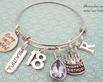 18th Birthday Girl Teenage Gift Teenager Personalized For Her Custom Jewelry 18 Year Old