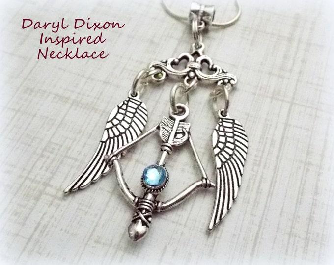 Walking Dead  Necklace, Daryl Dixon Pendant Necklace, Walking Dead Fan Gift, Daryl Dixon Fan Gift, Gift Idea for Walking Dead Fan