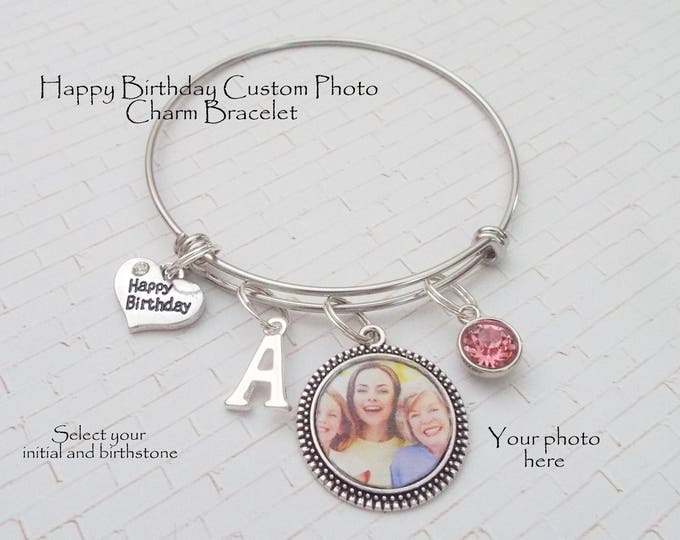 Birthday Gift for Woman, Girls Birthday Gift, Custom Photo Personalized Jewelry Gift for Her, Daughters Birthday, Granddaughter Gift
