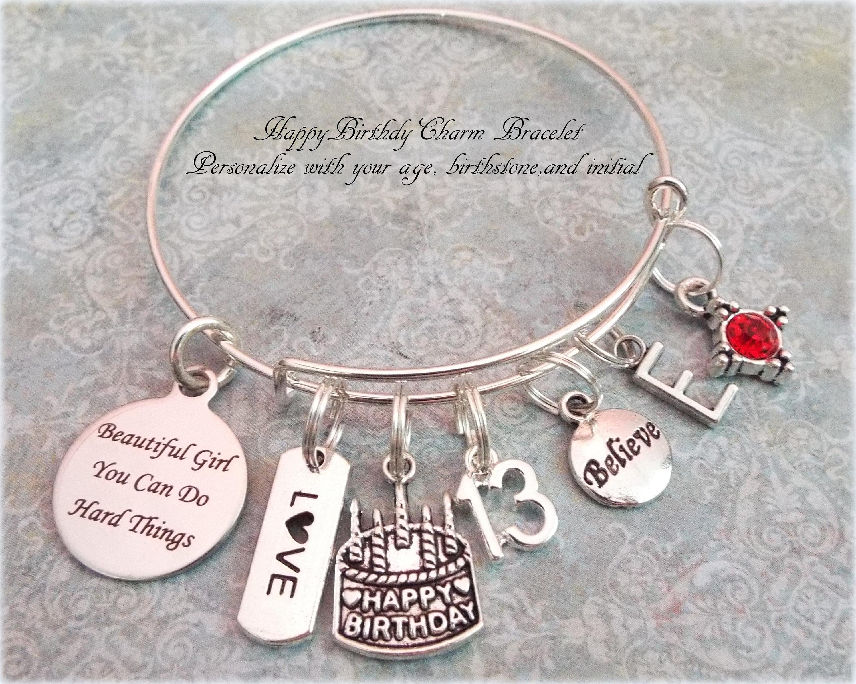 Geschenk für 13. Geburtstag benutzerdefinierte Charm Armband | Etsy