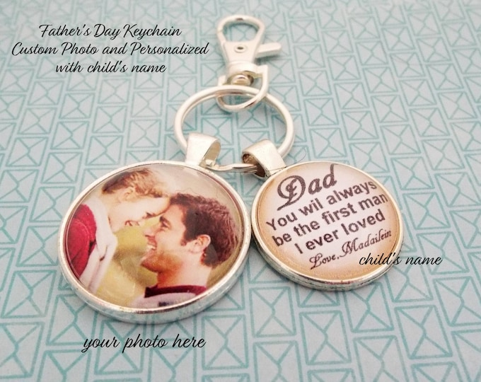 Dad Gift from Daughter, Personalized Gift for Father, Father's Day for Him, Daddy Keychain, Gift for Man, Gift from Daughter, Custom Photo