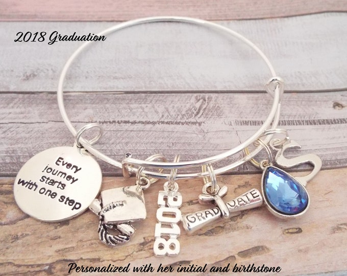 Graduation Gift Charm Bracelet, Girl Graduation, Gift for Graduate, Gift for Girl Graduate, High School Graduation Gift Idea
