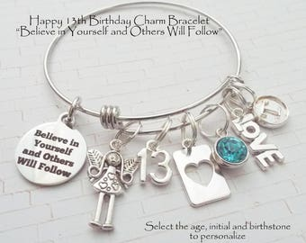 Gift for Teenage Girl, 13th Birthday Girl,  Gift for 13 Year Old Girl, 13th Birthday Jewelry, Teenager Jewelry, Personalized Girl Gift