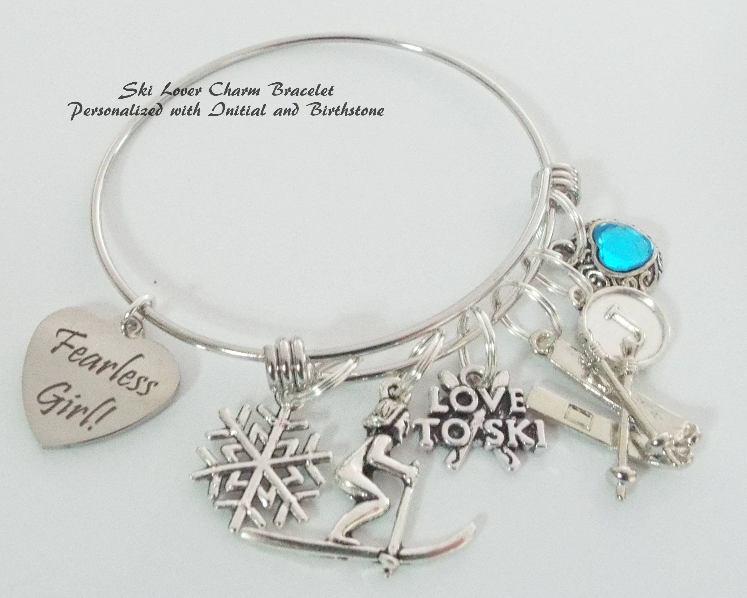 7e2152620 ... Personalized Birthstone Charm Bracelet, Initial Jewelry, Gifts for Her.  gallery photo ...