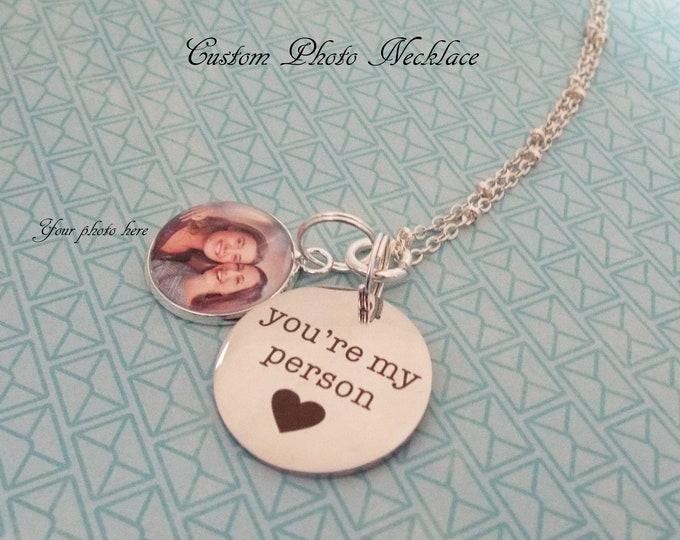 Personalized Valentine Gift for Girl, Women's Necklace, Best Friend Birthday, Custom Jewelry, Photo Jewelry, Gift for Her, Valentine's Day