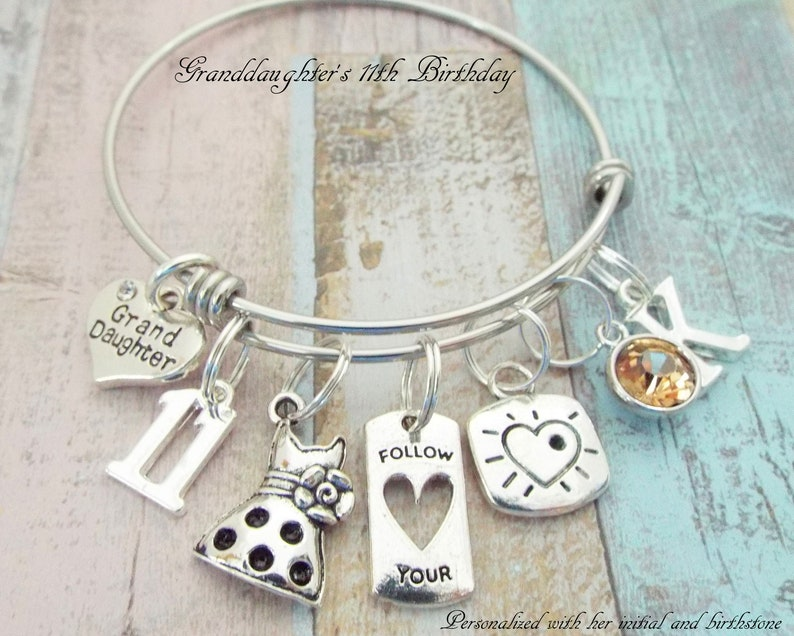 Girl Birthday Charm Bracelet 11th Gift Daughter