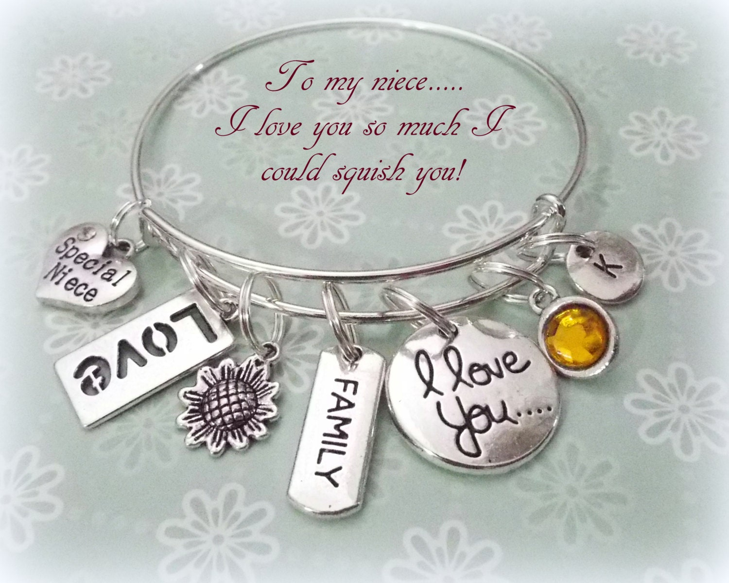 Niece Gift Charm Bracelet For Personalized