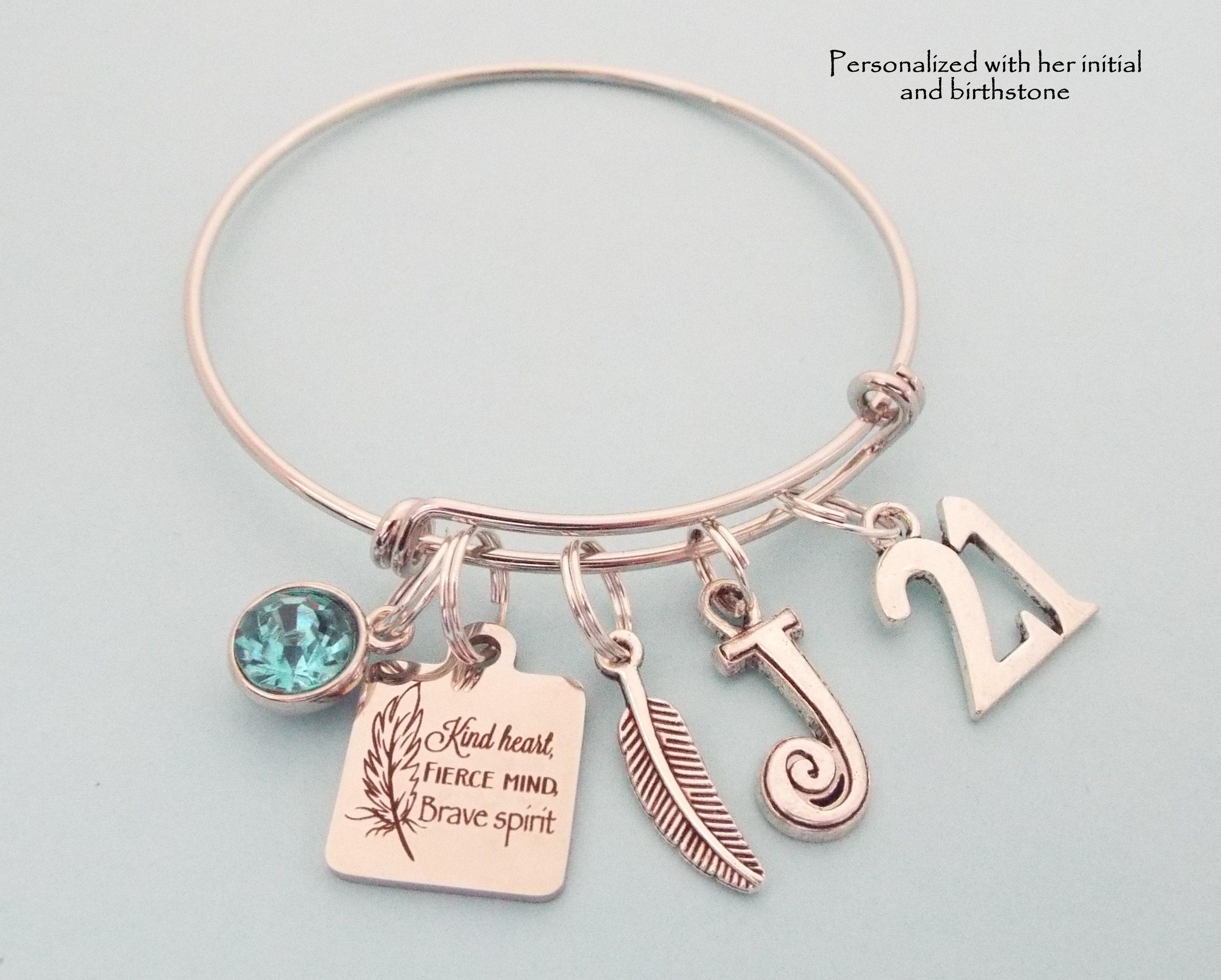 21st Birthday Gift For Daughter Personalized Girl Jewelry Bracelet