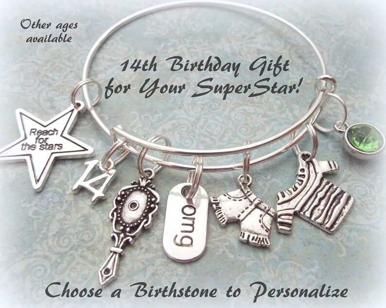 Birthday Charm Bracelet For Girl Gift 14 Year Old