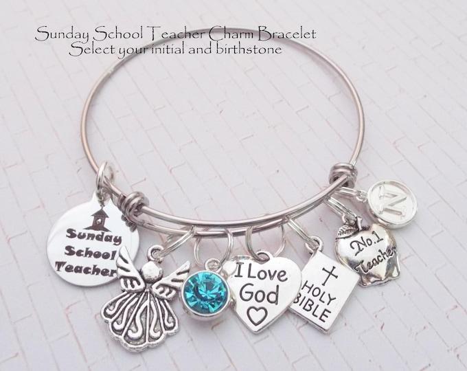 Gift for Sunday School Teacher, Sunday School Teacher Gift, Religious Jewelry, Gift for Teacher, Personalized Gift, Gift for Her