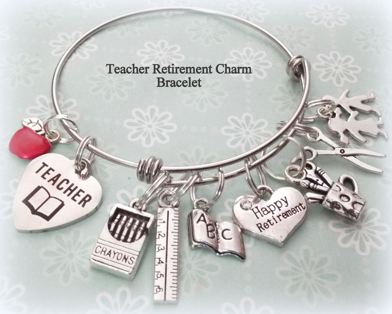 1d7dc343f9 Teacher Retirement Gift, Teacher Thank You, Personalized Gift, Custom  Jewelry, Gift for Her, Student Gift, Women's Jewelry, School Gift