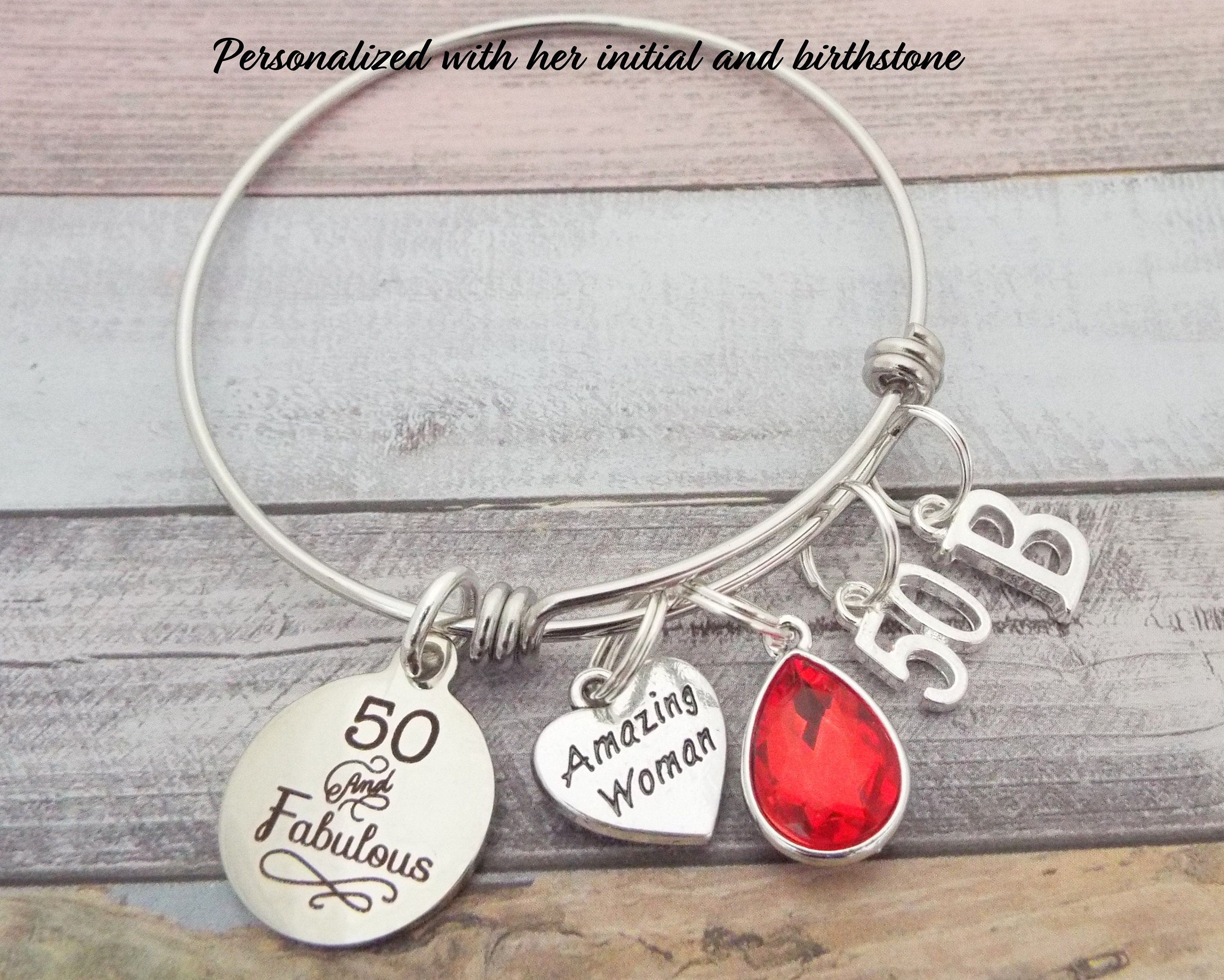 50th Birthday Gift For Best Friend Personalized Jewelry