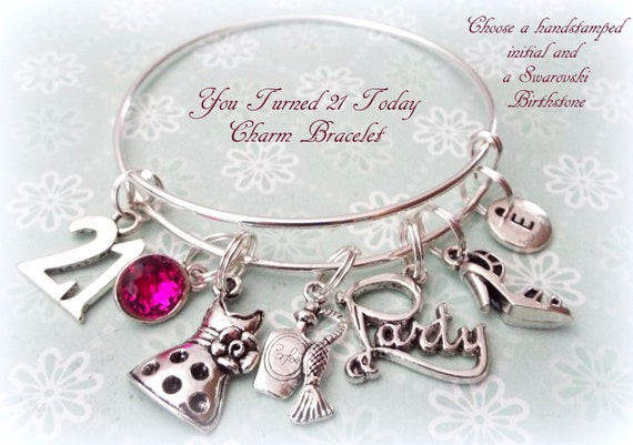 21st Birthday Gift Charm Bracelet Idea