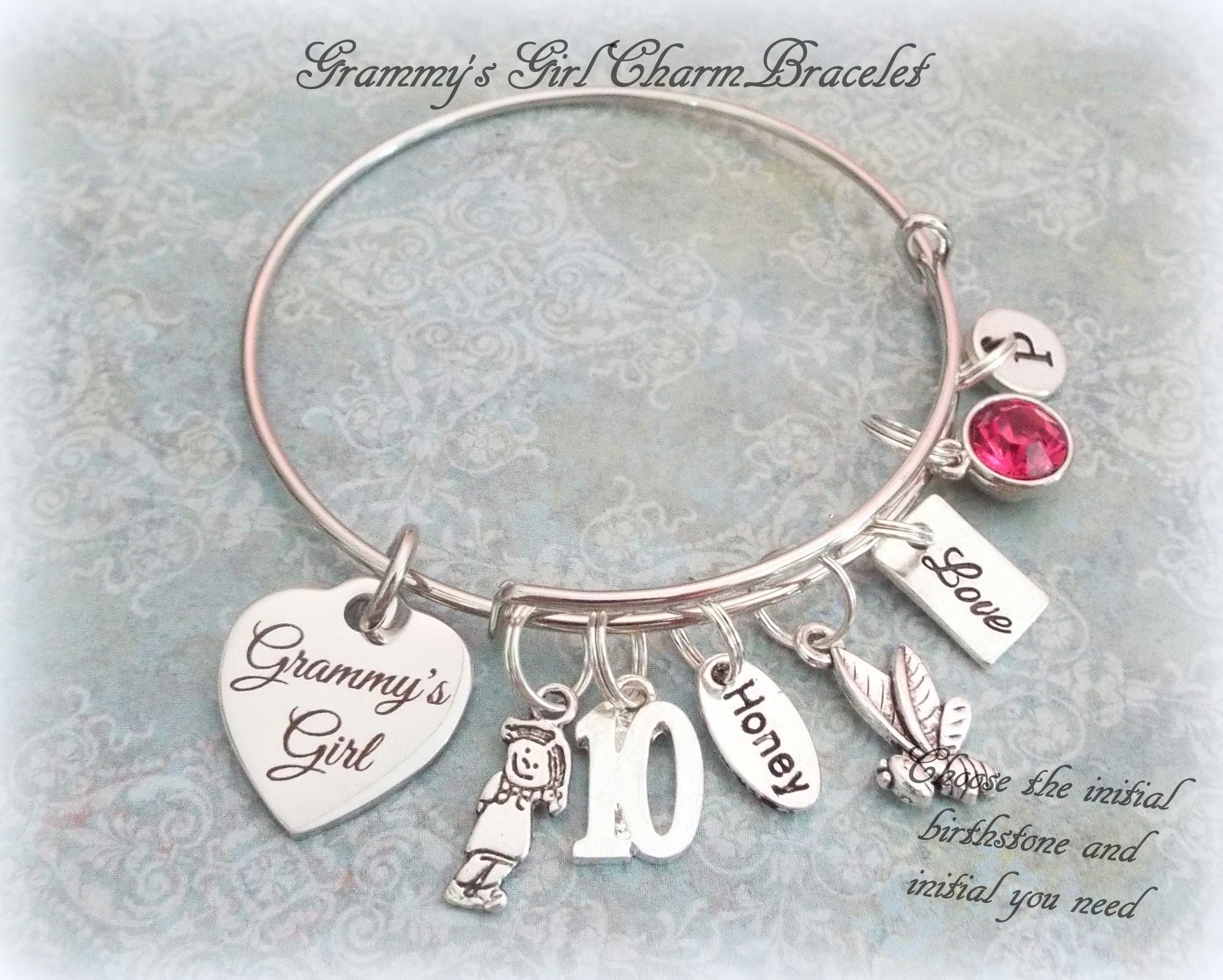 Gift Idea For Granddaughter 10th Birthday Charm Bracelet Happy 10 Year Old Girl