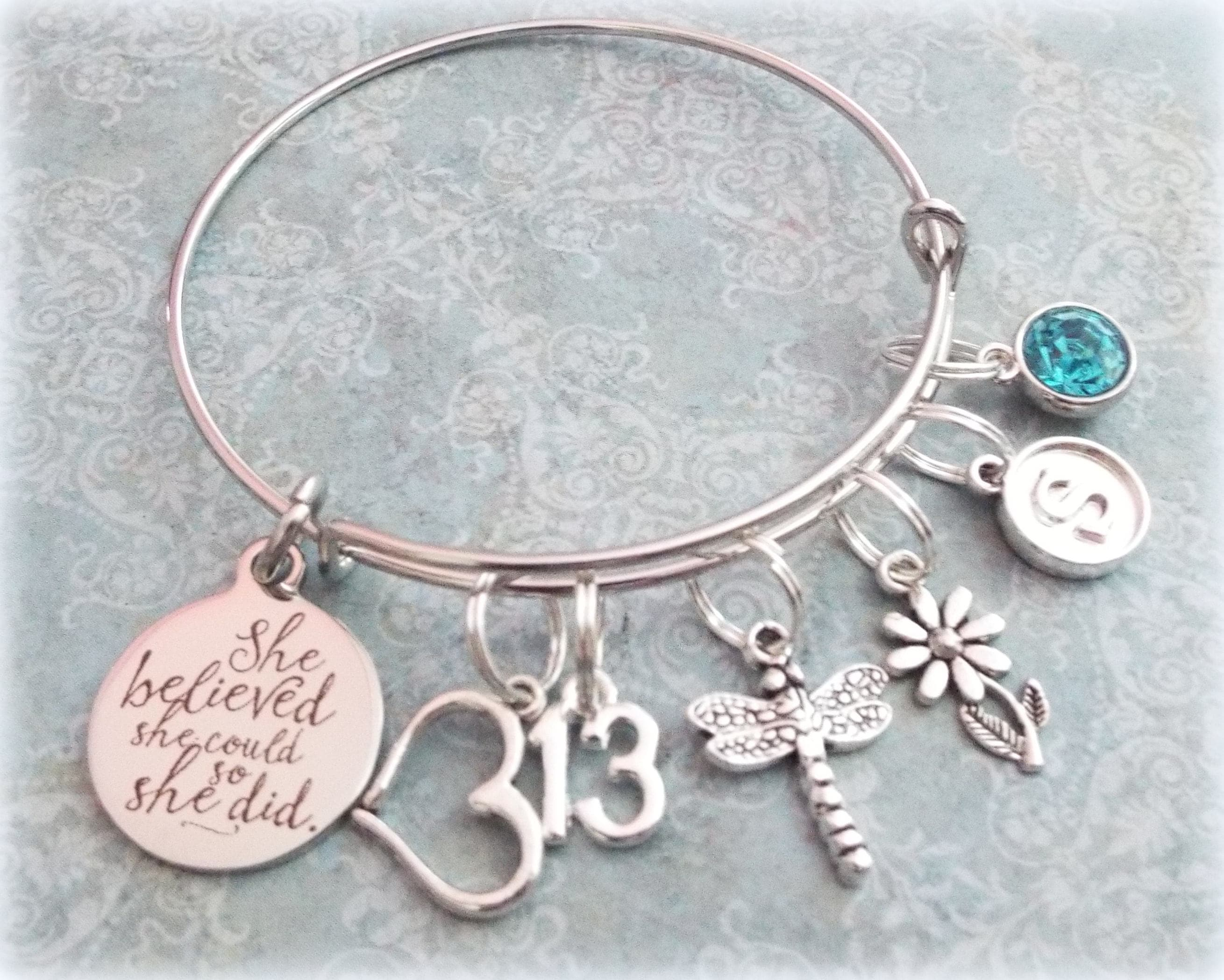 13th Birthday Girl Charm Bracelet Teenage Daughter