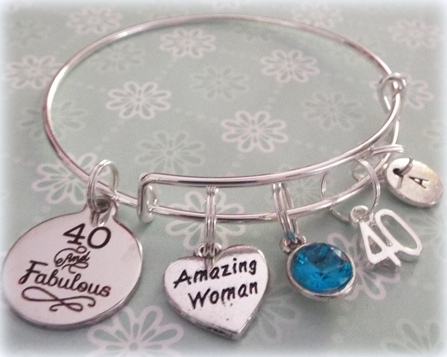 40th Birthday Gift Personalized Happy Best Friend Jewelry Bracelet For Her