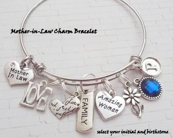 Schoonmoeder Geschenk Gepersonaliseerd Cadeau Eerste Sieraden Giften Voor Haar Moeder Armband Cadeaus Voor Moeder Dochter Van Moeder Cadeau