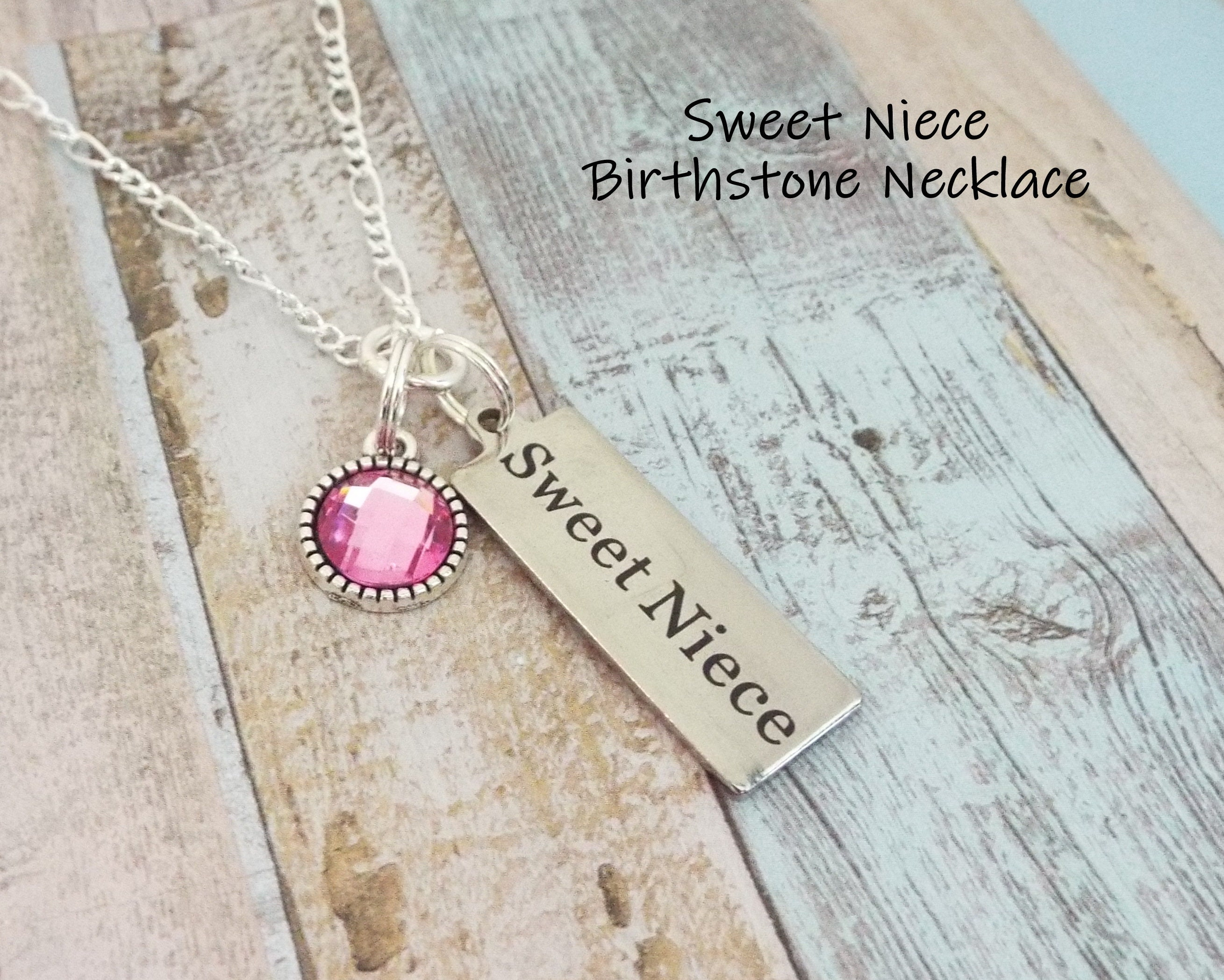 Niece Birthday Gift Aunt To For Jewelry Birthstone Girl Her Necklace