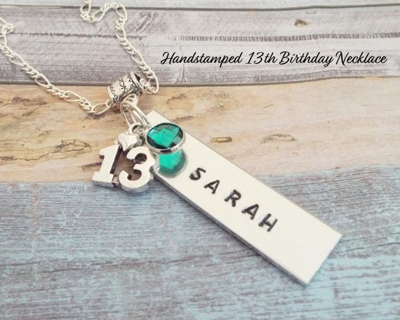 Handstamped 13th Birthday Gift For 13 Year Old