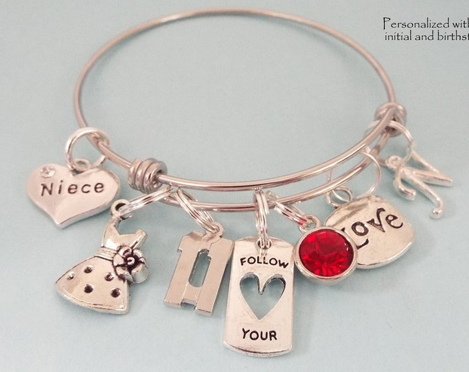 Girl Birthday Charm Bracelet, 11th Birthday Gift, Daughter Birthday, Personalized Gift, Gift for Her, Gift for 11 Year Old Girl, Niece Gift